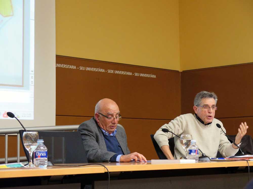 José María Perea y José Ramón Navarro durante el debate de clausura de las IV Jornadas Ciudad y Educación de la PIC