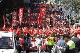 Imagen de una manifestación del 1 de Mayo en Alicante