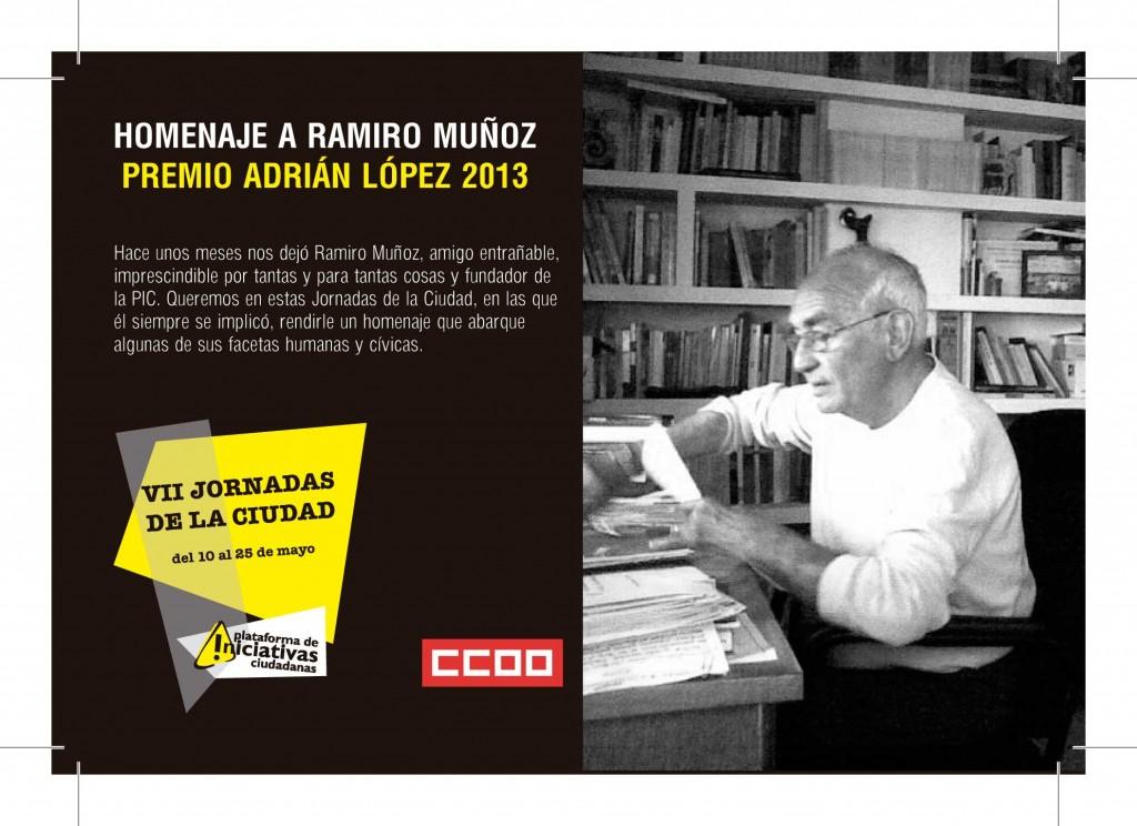 El homenaje a Ramiro Muñoz y el debate sobre la Enseñanza Pública son dos de los puntos centrales de las VII Jornadas de la Ciudad que se inician el 10 de mayo y que cuentan con medio centenar de actividades