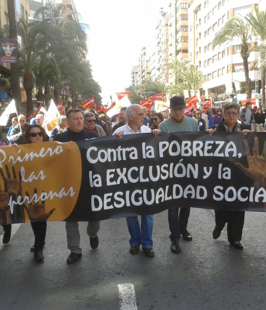La lucha contra pobreza y la exclusión social continúan siendo hoy uno de los mayores retos a los que se enfrenta la ciudad de Alicante