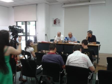 Imagen de la rueda de prensa de la PIC para hacer una valoración de la sentencia del TSJ que anula el Plan Rabasa