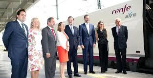 Imagen del acto inaugural de la llegada del AVE a Alicante