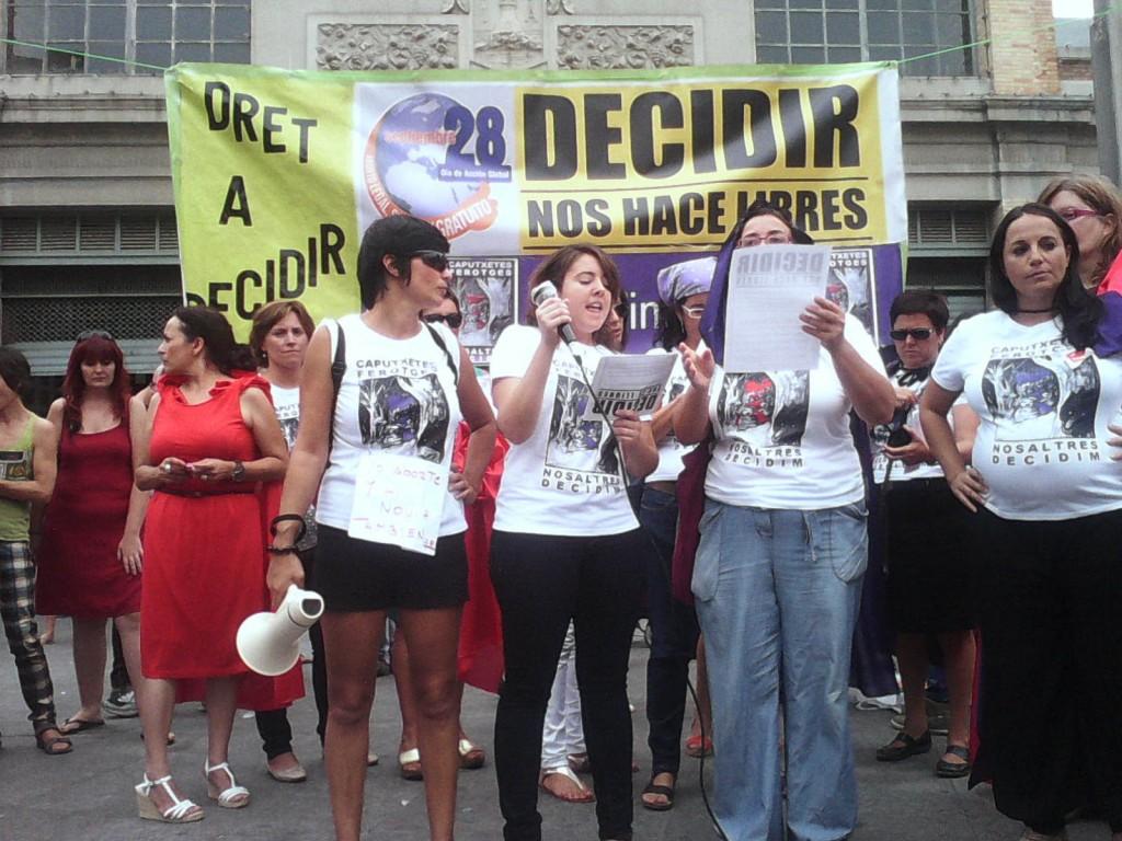 Imagen de uno de los actos de la Plataforma Feminista de Alicante contra los cambios en la Ley del Aborto