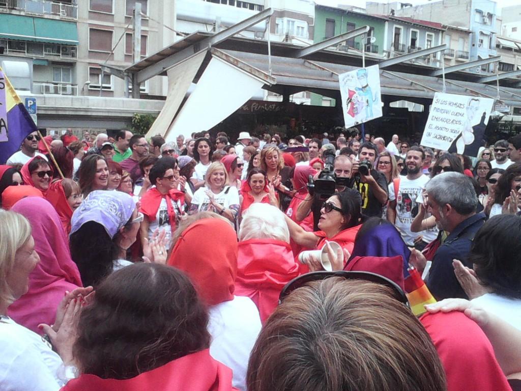 Acto llevado a cabo el pasado año por la PFA contra la Ley del Aborto del ministro Alberto Ruiz-Gallardón